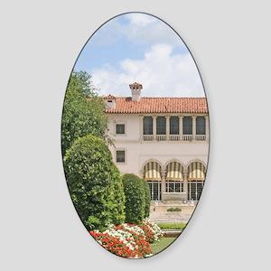 Vizcaya Museum and Gardens Miami Fl Sticker (Oval)