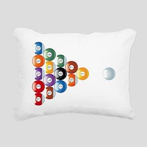 billard balls1 Rectangular Canvas Pillow