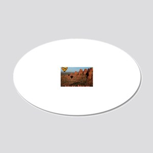 Sedona Arizona 20x12 Oval Wall Decal