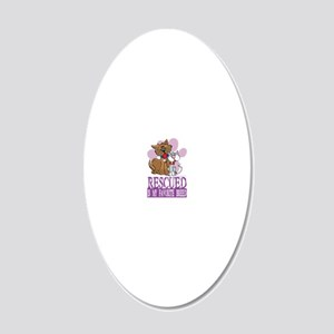 Rescued-Is-My-Favorite-Breed 20x12 Oval Wall Decal