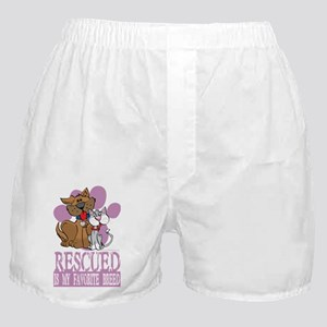 Rescued-Is-My-Favorite-Breed-blk Boxer Shorts
