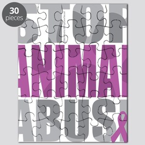 Stop-Animal-Abuse-2010-blk Puzzle