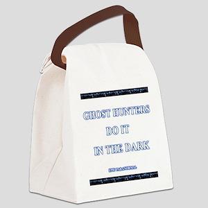 gh_doitdark_wh Canvas Lunch Bag