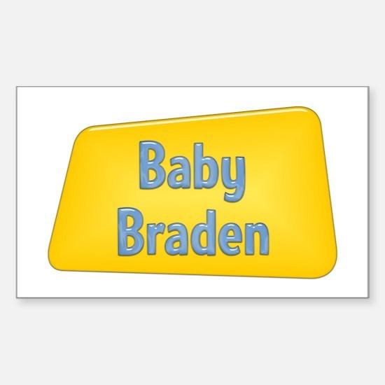 Baby Braden Rectangle Decal