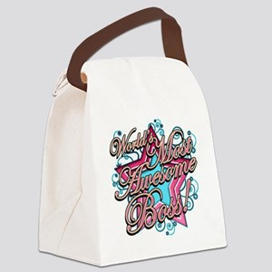 Worlds Most Awesome Boss Canvas Lunch Bag