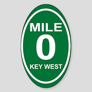 milezerokeywestovals2010cpORN Sticker (Oval)