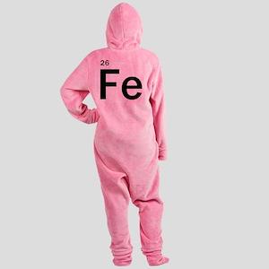 iron-man-fe-frank-goth copy Footed Pajamas