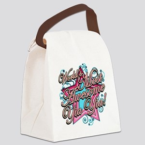 Worlds Most Awesome yia yia Canvas Lunch Bag