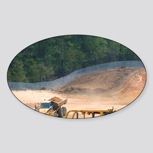 Bulldozer being used for road const Sticker (Oval)