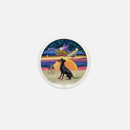 R - Xmas Star - Manchester Terrier Mini Button
