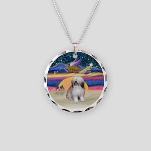 R - Xmas Star - Polish Lowla Necklace Circle Charm