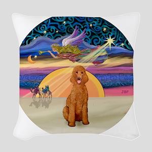 Xmas Star - Apricot Standard P Woven Throw Pillow