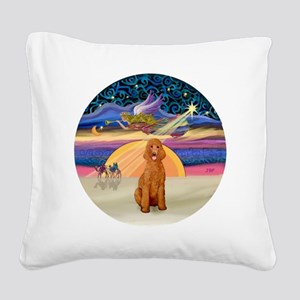 Xmas Star - Apricot Standard  Square Canvas Pillow