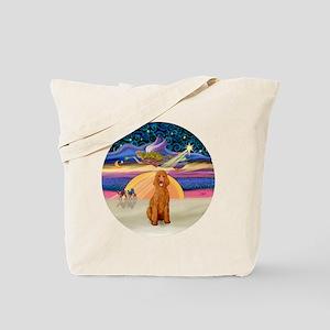 Xmas Star - Apricot Standard Poodle Tote Bag