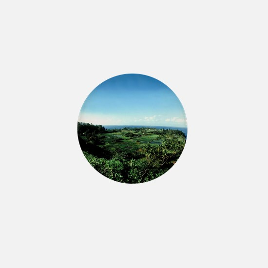 Ke'anae Peninsula unchanged Tropical P Mini Button