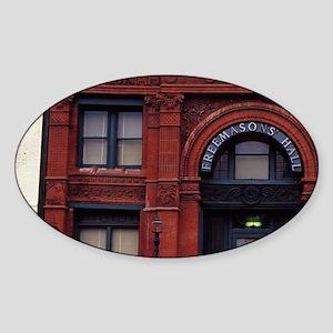 Savannah. Freemasons' Hall on Facto Sticker (Oval)