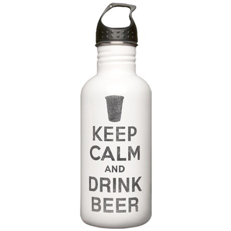 keepcalmdrinkbeer copy Stainless Water Bottle 1.0L