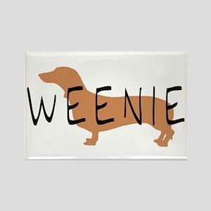 weenie dog dachshund Rectangle Magnet