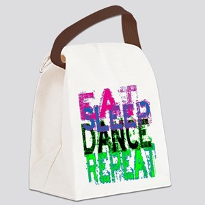 eat sleep dance repeat 3 copy Canvas Lunch Bag