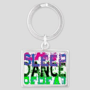eat sleep dance repeat 3 copy Landscape Keychain
