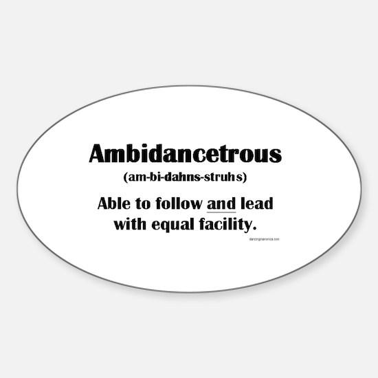 Ambidancetrous Sticker (Oval)