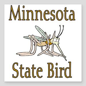 "Minnesota State Bird cop Square Car Magnet 3"" x 3"""