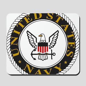 Navy-Logo-Black-White-Gold Mousepad