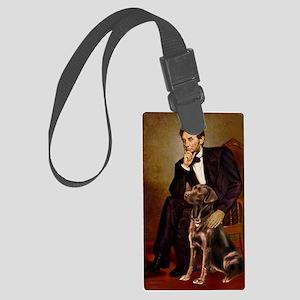 Lincoln - Chocolate Labrador 11- Large Luggage Tag