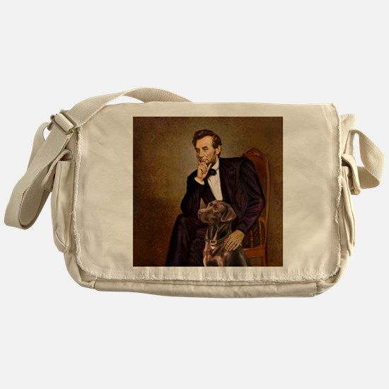 T-Lincoln - Chocolate Labrador 11-c Messenger Bag