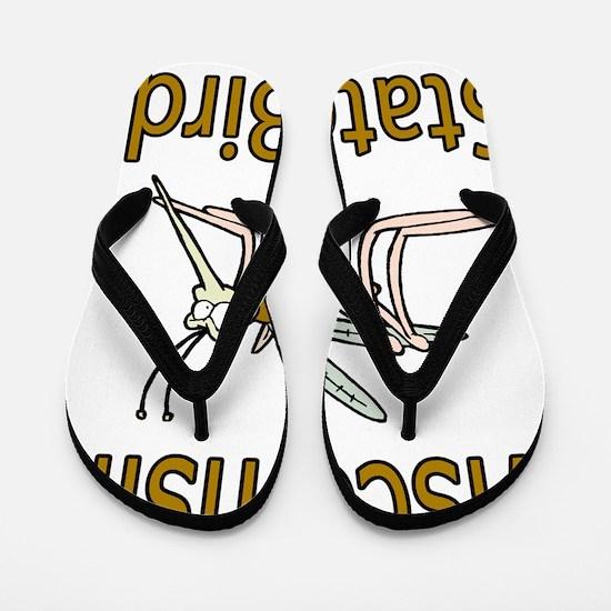 Wisconsin State Bird Flip Flops