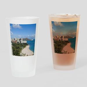 Waikiki Beach, Honolulu, Oahu, Hawa Drinking Glass
