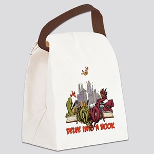 delveintoabook Canvas Lunch Bag