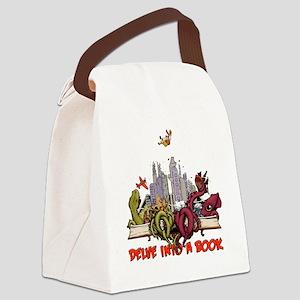 delveintoabook Canvas Lunch Bag