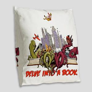 delveintoabook Burlap Throw Pillow
