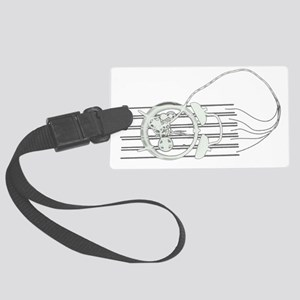 bomb x-ray_Outline Large Luggage Tag