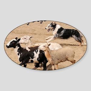 herdingcover Sticker (Oval)