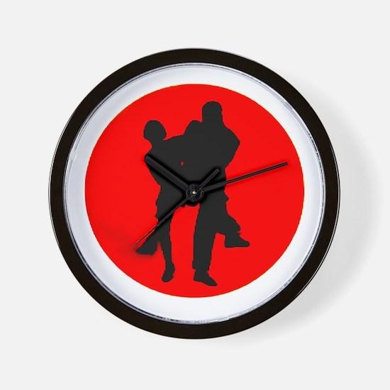 Red Moon Dancers Wall Clock