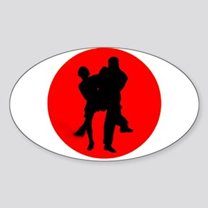Red Moon Dancers Sticker (Oval)