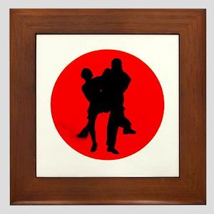 Red Moon Dancers Framed Tile