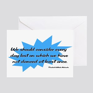 Day Lost Without Dancing Greeting Cards (Package o