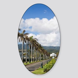 Brigham Young Morman Temple, Laie,  Sticker (Oval)