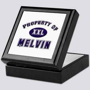 Property of melvin Keepsake Box