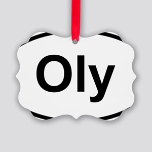 Oly Oval logo Picture Ornament