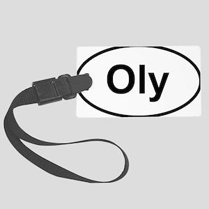 Oly Oval logo Large Luggage Tag