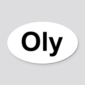 Oly Oval logo Oval Car Magnet