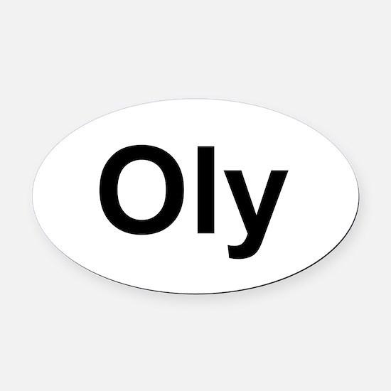 Oly Oval logo Oval Car Magnet