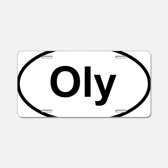 Oly Oval logo Aluminum License Plate