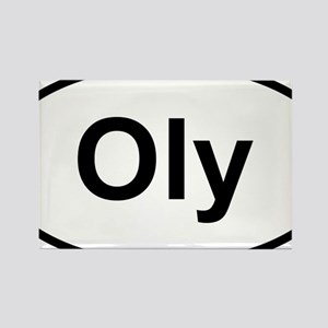 Oly Oval logo Rectangle Magnet