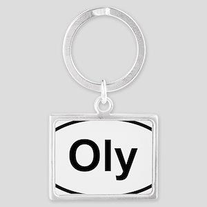 Oly Oval logo Landscape Keychain