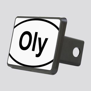 Oly Oval logo Rectangular Hitch Cover